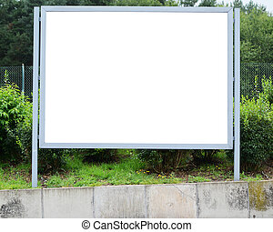 Blank billboard at parking