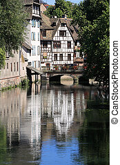 La Petite France at Strasbourg - France, district of La...