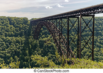 The New River Gorge Bridge - The 3030 ft long New River...