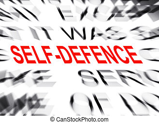 Blured text with focus on SELF DEFENCE