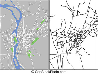 Cairo - Illustration city map of Cairo in vector.