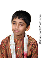 Indian - An handsome Indian kid dressed very traditionally