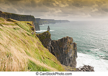 Famous Scenic Cliffs Of Moher, WildAtlanticWay, County...