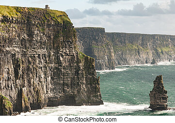 Famous Scenic Cliffs Of Moher, WildAtlanticWay, County Clare, Ireland