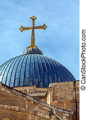 Dome of Holy Sepulchre Cathedral, Jerusalem, Israel