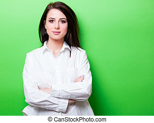 portrait of young woman - portrait of the beautiful young...