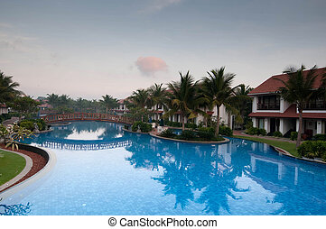 Pool - A beautiful large swimming pool at a local resort