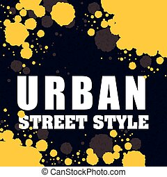 Street and urban style design , vector illustration - street...