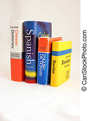 Dictionary - A photo of a few bright dictionaries.