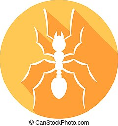 ant silhouette flat icon