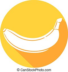 banana fruit flat icon