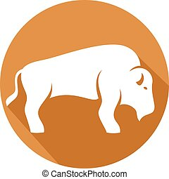 bison flat icon