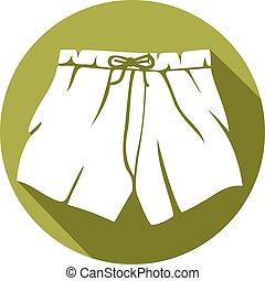 boxer shorts flat icon