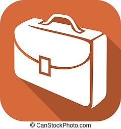 travel suitcase flat icon
