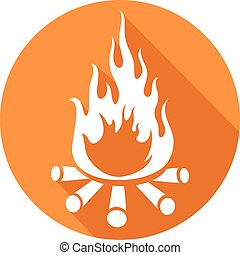 campfire flat icon