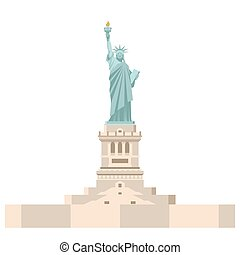 Statue of Liberty in America. National symbol of USA. State...