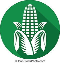 corn flat icon