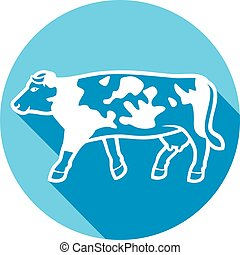 cow flat icon