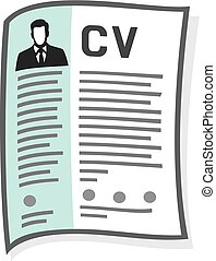 resume and cv icon (curriculum vitae icon)