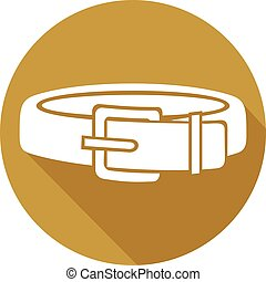 dog collar flat icon