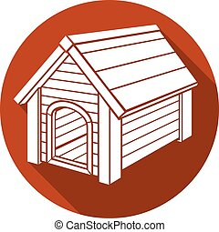 dog house flat icon