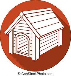 dog house flat icon