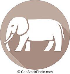 elephant flat icon