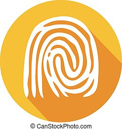 finger print flat icon