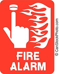 fire safety sign (fire alarm call p