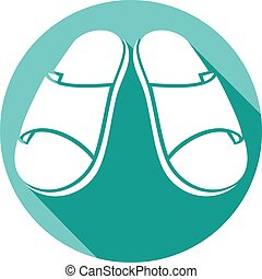 slippers flat icon