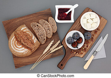 Rustic Greek Snack Food - Rustic greek snack food with feta...
