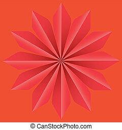 Background Star Op art vector