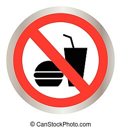 no food allowed symbol, no eating, no food or drink area...