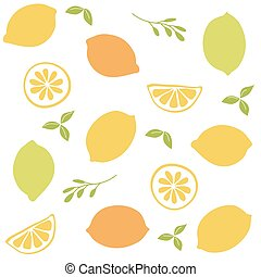 Seamless citrus fruit pattern - Seamless vector pattern with...