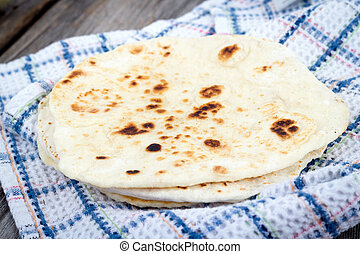 Homemade Naan Flatbread  - Homemade Naan Flatbread