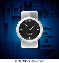 watch wrist design, vector illustration eps10 graphic