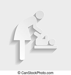 Symbol for women and baby, baby changing
