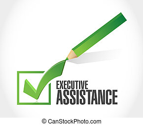 executive assistance check mark sign concept illustration...
