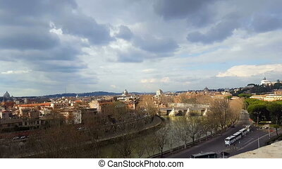 Rome, Orange Garden - Rome, orange garden, view of the city
