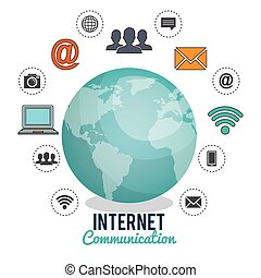 internet communication design, vector illustration eps10...