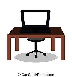 laptop on desk design