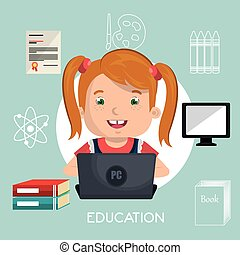 online kids design, vector illustration eps10 graphic