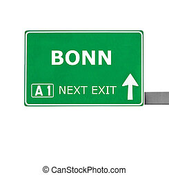 BONN road sign isolated on white