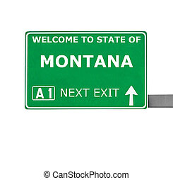 MONTANA road sign isolated on white
