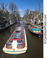 cruise ship  in Amsterdam,  Reguliersgracht The Netherlands
