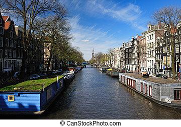 Prinsen gracht Amsterdam the netherlands - Canal Prinsen...