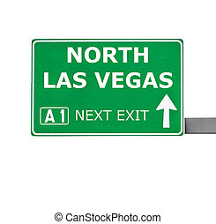 NORTH LAS VEGAS road sign isolated on white