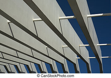 porch pergola - Modern pergola made of concrete materials