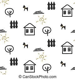 Glitter scandinavian ornament Vector gold seamless ornament...