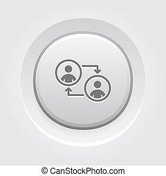Retraining Icon. Business Concept